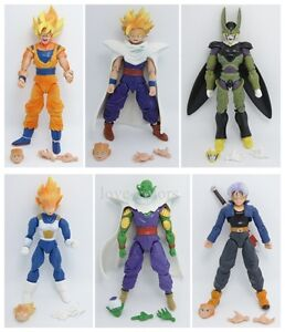 Set of 6 pcs dragon ball z action figures Dragonball Z DBZ  Toy Goku Anime New