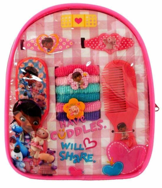 Disney Doc McStuffins 10 piece Hair Accessory Backpack