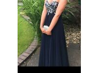 Navy blue prom dress