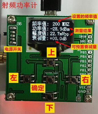 Oled Digital Display Rf Power Meter 0-500mhz -80 10dbm Attenuation Value