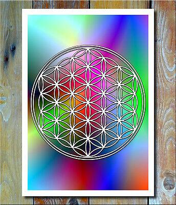 Flower of Life - Energiebild - Lebensblume - Wandbild - Blume des Lebens