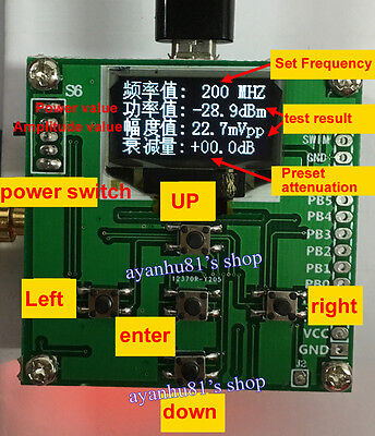 1-500mhz Oled Rf Power Meter -7015dbm 1nw2w Power Set Rf Attenuation Value