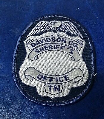 DAVIDSON COUNTY, TENNESSEE SHERIFF BADGE POLICE SHOULDER PATCH TN