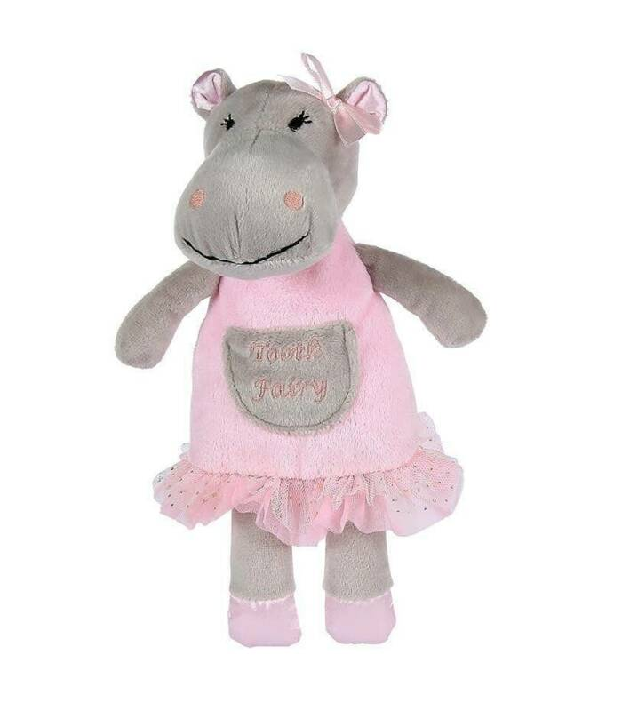 """Maison Chic Hannah the Hippo Tooth Fairy 9"""""""