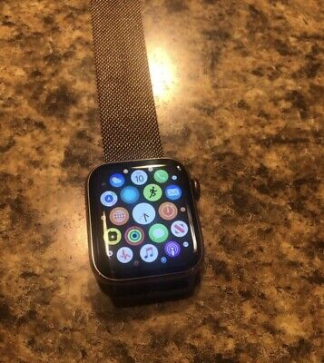 Apple Watch 4 Gold Stainless Steel 40mm Milanese Loop With Applecare