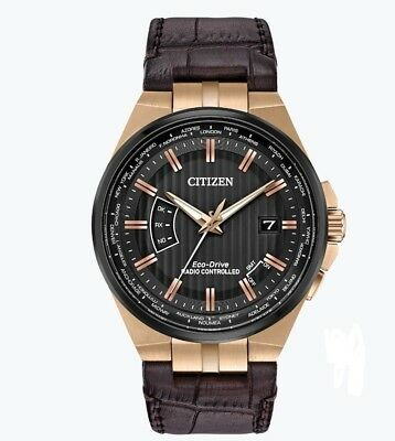 Citizen Eco-Drive Men's Proximity A-T World Time Rose Gold 42mm Watch CB0168-08E