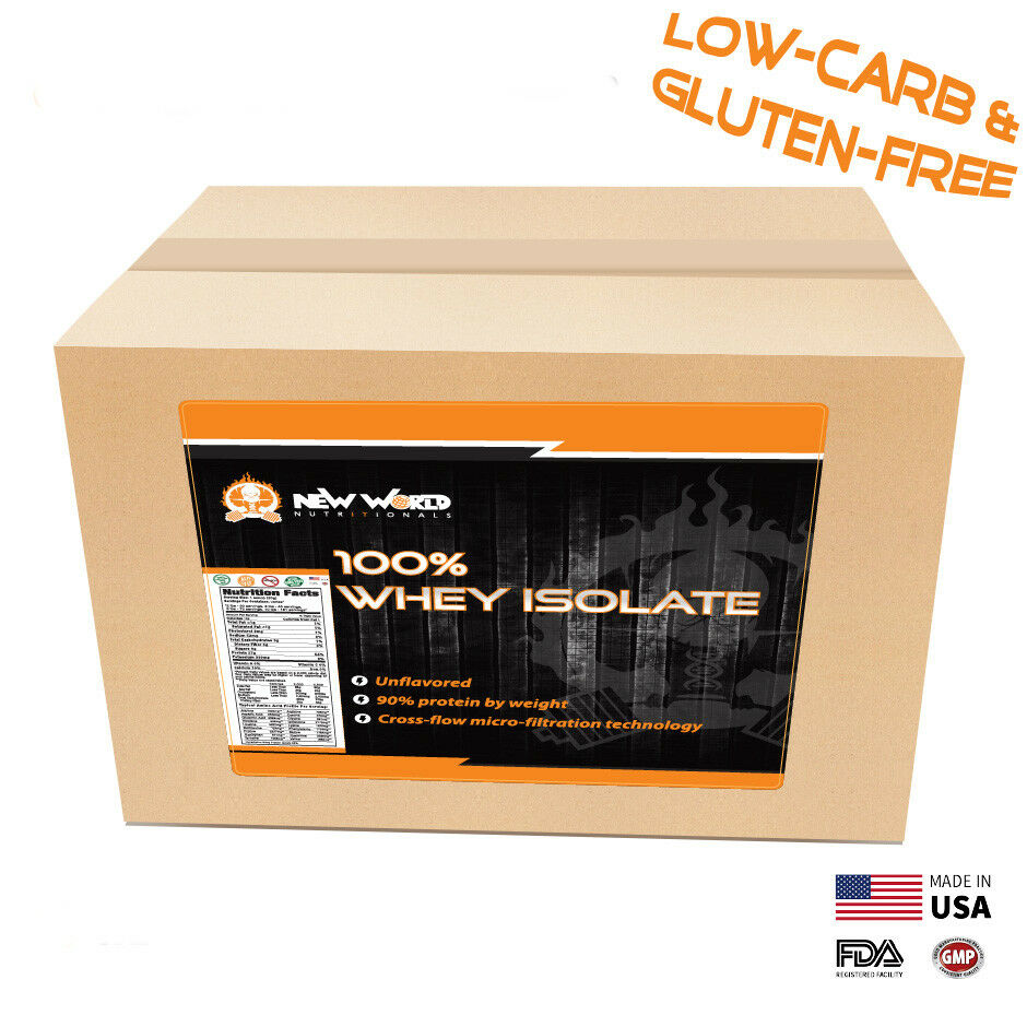 2.5lb Bulk Whey Protein ISOLATE  Manufacturer Direct 4 Flavo