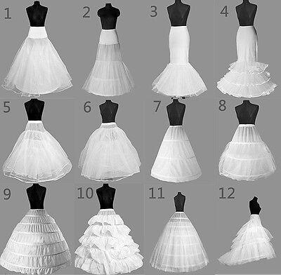 12 Style White A-Line/Mermaid Wedding Crinoline Petticoat Underskirt Fancy Skirt - White Petticoat Skirt
