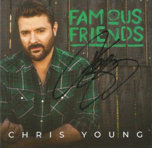 Chris Young Autographed Famous Friends CD (Green Version)