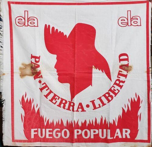 VTG LARGE POLITICAL PARTY FLAG / PPD PARTIDO POPULAR / PUERTO RICO 1960