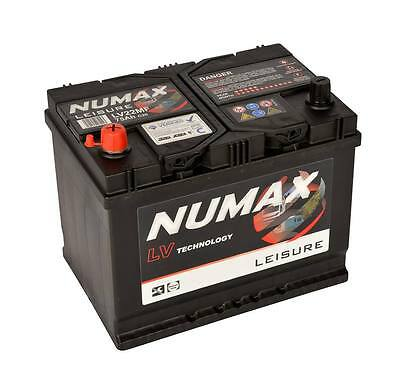 Leisure Battery 12V 75AH NUMAX LV22MF Battery Caravan Motorhome, Marine Boat