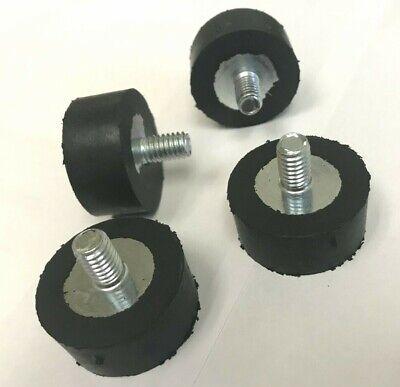 Set Of 4 New Rubber Bumper Feet Levelers 516-18 Thread 12 Long Studs