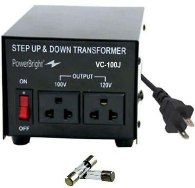 300w Step Up Down Transformer Convert 120 To 100 V Universal Outlet Socket New