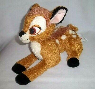 """DISNEY STORE 11"""" Plush BAMBI Deer Soft Laying Stuffed Animal Toy Brown"""