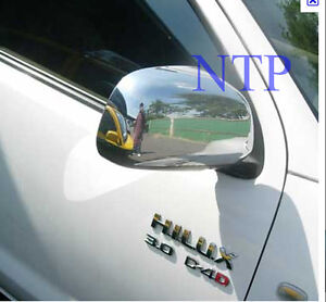 Toyota Hilux 2005 to 2011 Chrome Door Mirror Covers Pair dual extrasingle cab