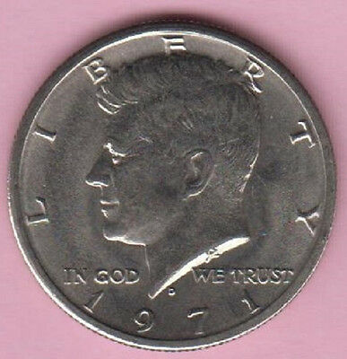 1971D JOHN F. KENNEDY HALF DOLLAR  CIRCULATED COIN GOOD  CONDITION