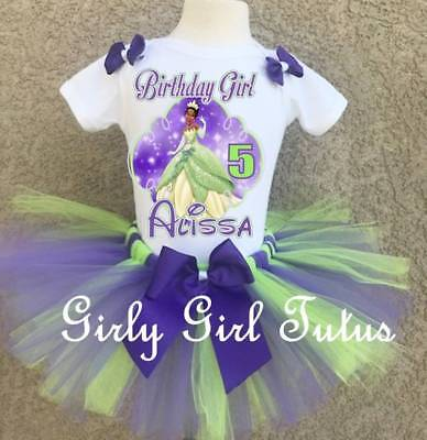 Princess and the Frog Tiana Girls Birthday Tutu Outfit Set