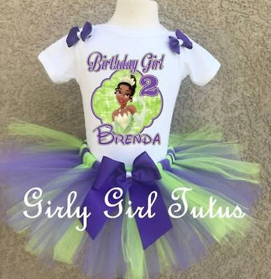 Princess Tiana Outfits (Princess Tiana Girls Birthday Tutu Outfit Party Dress Set Princess and)