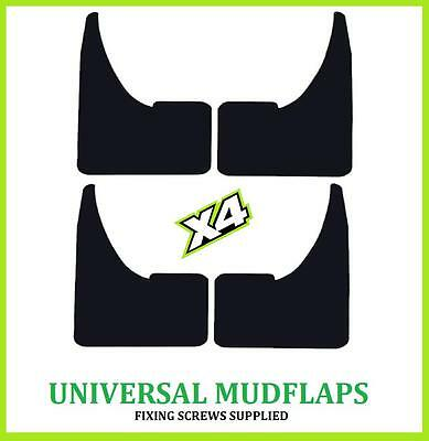 UNIVERSAL WIDE BLANK Rubber Black MUDFLAPS Mud Flaps SET of 4