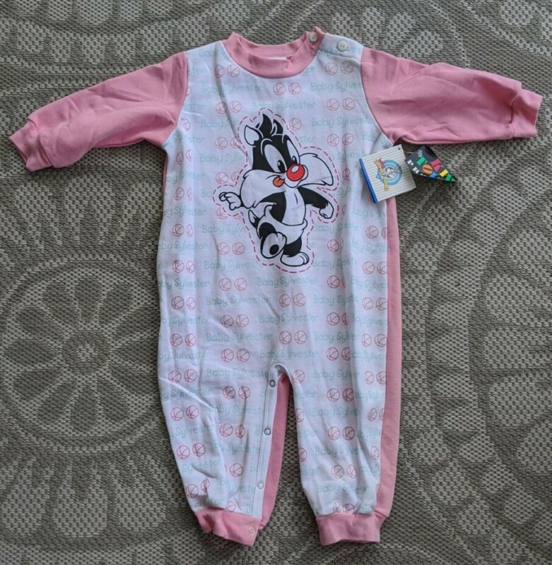 Vintage 90s 1998 Baby Looney Tunes Baby Sylvester 1 piece 18 months NEW