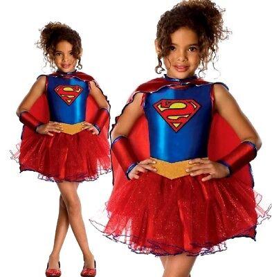 Child Official SUPERGIRL TUTU Fancy Dress Costume Superhero Superman Comic - Superman Kostüm Tutu