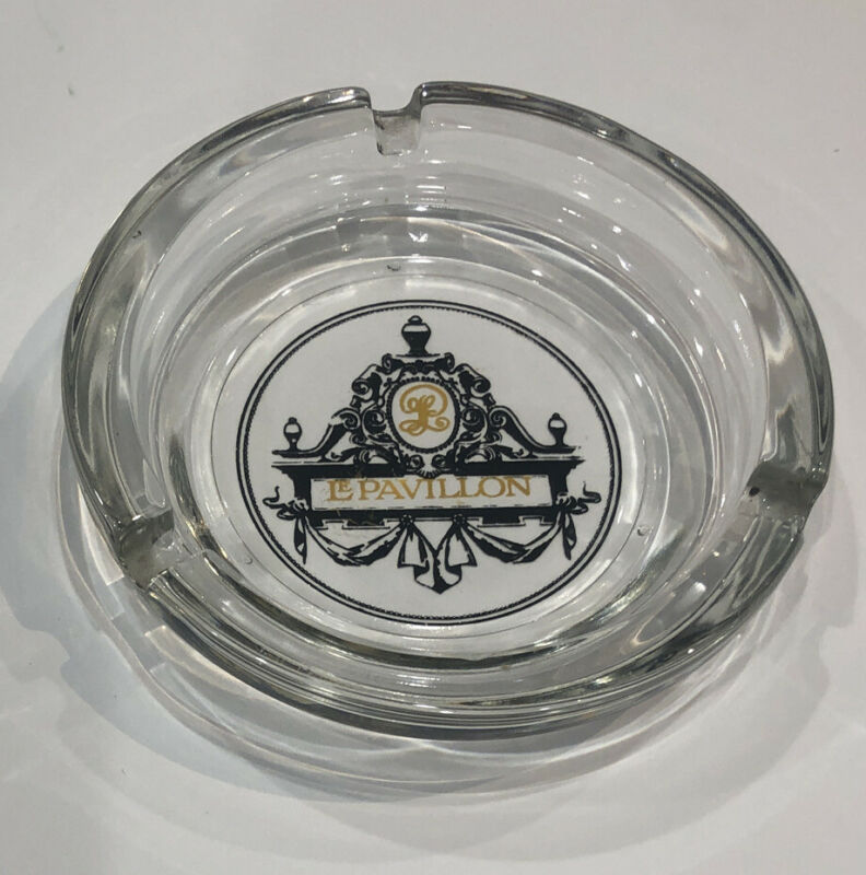 Vintage LE PAVILLON HOTEL New Orleans Glass Ashtray
