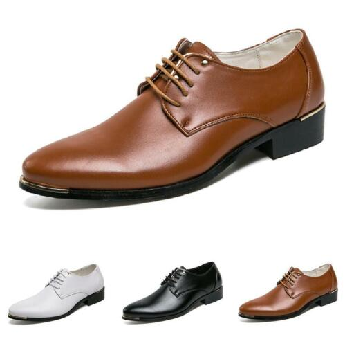 Details about  /Men Work Oxfords Pointy Toe Lace up Formal Business Leisure Faux Leather Shoes L
