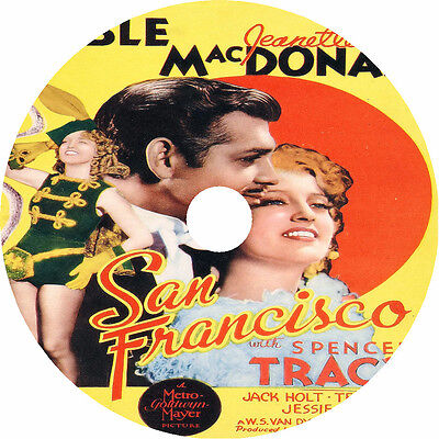1936 Clark Gable (San Francisco DVD Clark Gable Jeanette MacDonald V Rare 1936)