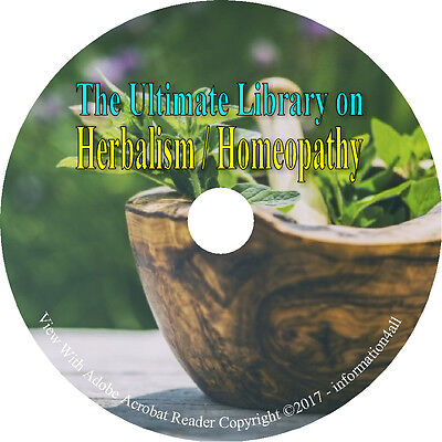 61 Books on DVD, Ultimate Library on Herbs Herbal Herbalism, Remedies, Medicine