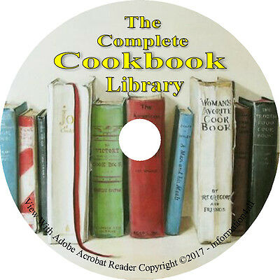 200 Vintage Books on DVD, Complete Cookbook Collection, Reci
