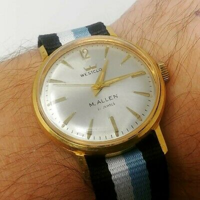 Vintage Men's automatic Westclox 21 Jewel watch, running