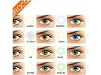 Cosmetic coloured contact lenses