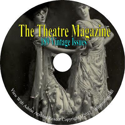 The Theatre Magazine 189 Issues Drama Music Plays Opera Artistes Books on DVD