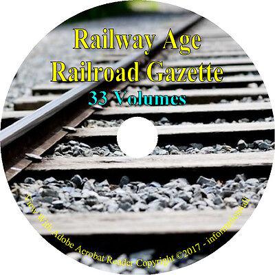 33 Volumes   Railway Age Railroad Gazette   Vintage News Journal Books On Dvd