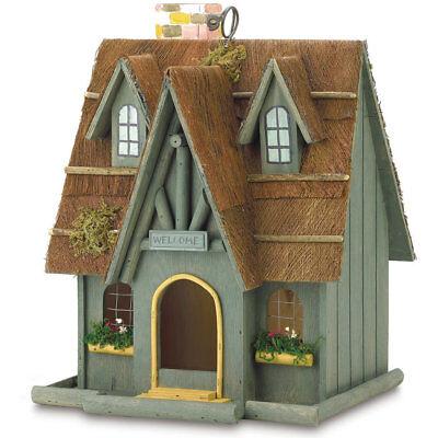 Wood Storybook Cottage Bird House