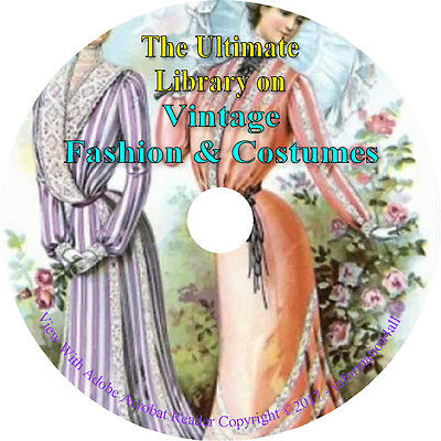 Fashion & Costumes, Ultimate Library on DVD – 67 Books, Costume, - Costume Books
