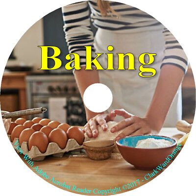 55 Books on CD Baking Bread Vintage Making Cooking Bake Pastry Cakes Flour Yeast