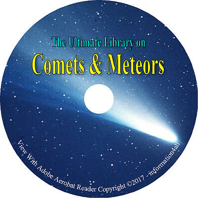 62 Rare Books On Dvd   Huge Collection On Comets   Meteors  Astronomy Meteorites
