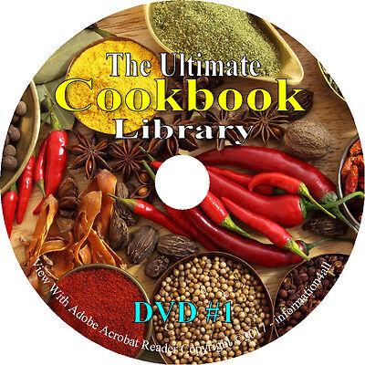 619 Vintage Books on DVD, Cookbook Library, Recipes Cook Bak