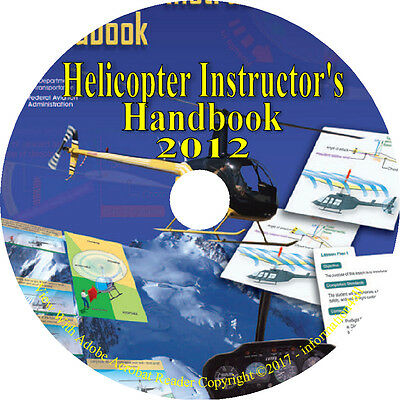 Helicopter Instructor's Handbook 2012 Manual Flight Pilot Training Book on CD