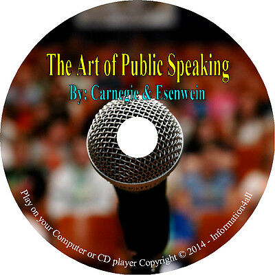The Art of Public Speaking by Dale Carnegie & Joseph Esenwein Audio Book on CD