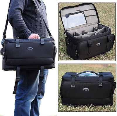 Large Waterproof Professional Camera Shoulder Carry Bag For Nikon Canon DSLR SLR
