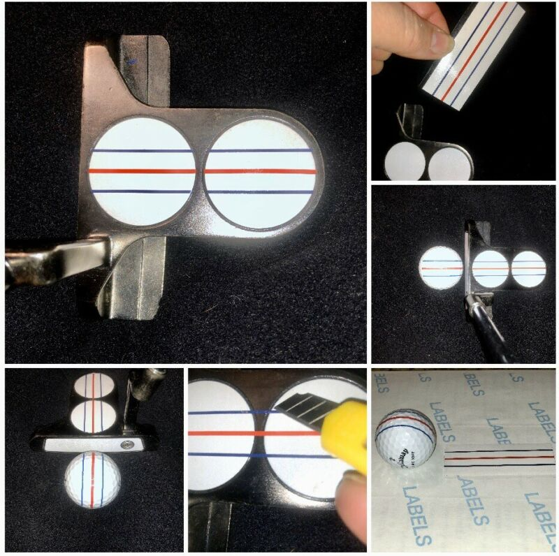 ODYSSEY TRIPLE TRACK Designed Vinyl Decal for Any Putter/2-Ball WHITE BACKGROUND
