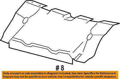 FORD OEM 08-12 Escape Radiator Core Support-Air Guide 8L8Z8C299A