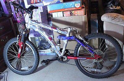 "Mongoose Boys Mountain Bike, 20"" Bicycle, Aluminum Frame, Full Suspension."