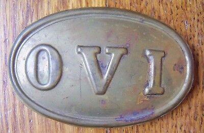 Vintage UNION OHIO VOLUNTEER INFANTRY OVI BELT BUCKLE
