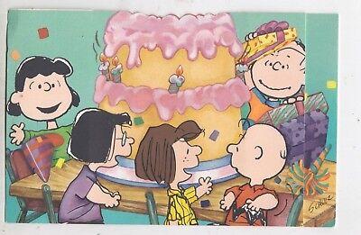Vintage Hallmark Peanuts Snoopy Unused Greeting Card Happy Birthday - pop up - Snoopy Birthday
