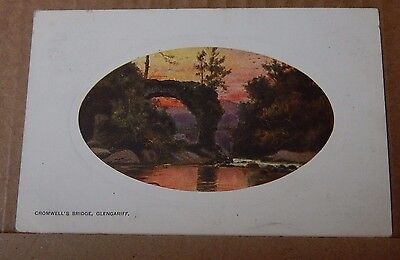 Postcard Cromwell's Bridge Glengariff Early Colour card posted 1908