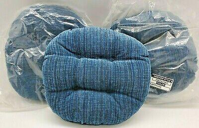 3 Klear Vu Gripper Cloth Sapphire Blue Bar Stool Cushions Slip Resistant Vinyl