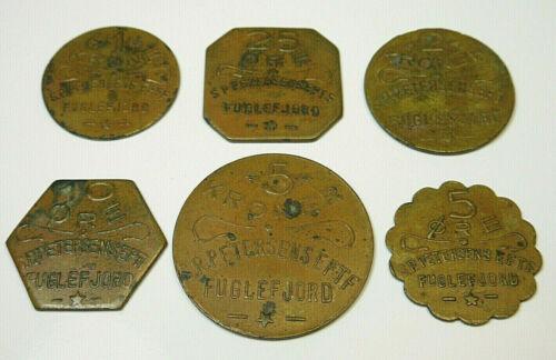 Faeroe Faroe Islands Denmark S.P. Petersens Fuglefjord 6 Coin Set C5
